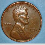 1951 p wheat penny