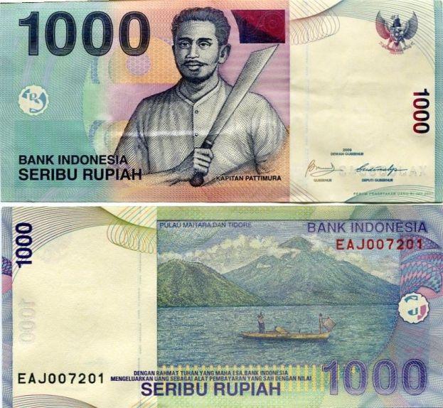 INDONESIA 1000 RUPEES 2009 P-NEW UNC