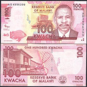 MALAWI 100 KWACHA BANKNOTE