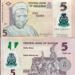NIGERIA 5 NAIRA 2011 UNC P NEW BANKNOTE FOR SALE