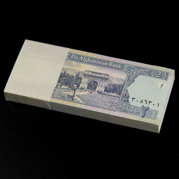 100 Pcs Afghanistan 2 Afghani Banknotes Paper Money UNC New P-65 for sale