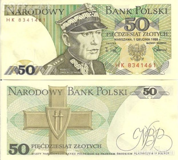 Poland 50 Zlotych 1988 Banknote P142 for Sale