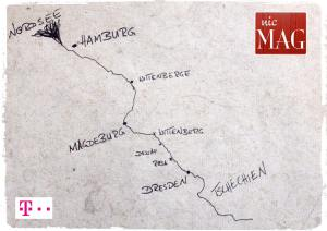Die Elbe entlang mit nicmag und der Telekom