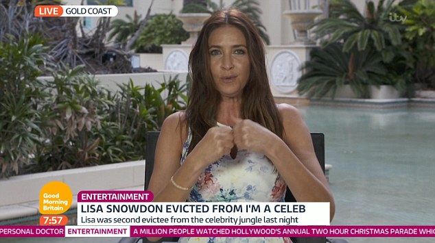Lisa Snowdon Says Larry Lamb And Carol Vorderman Are Ready To Leave The I'm A Celebrity Jungle