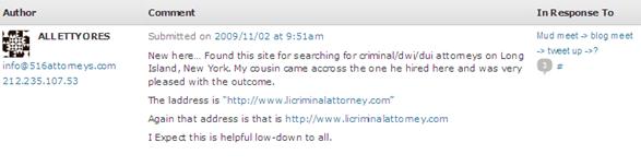 .lawyer spam