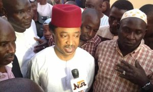 Senator Shehu Sani speaking with the press, Shehu Sani, Senator Shehu Sani