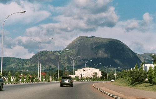 Aso rock villa: another view from afar (see the Aso rock itself)
