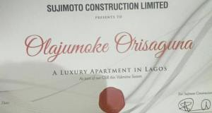 Sujimoto Construction Limited Offers #Olajumoke A Furnished Luxury Apartment In Lagos
