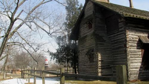 palmer park log cabin