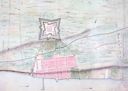 plan of fort detroit-detail