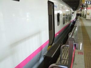 ミニ新幹線特有のステップ