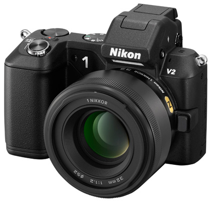 Nikon V2 with 32mm f1.2 lens