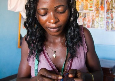 Florence Paloki, 20, tailoring, LomŽ, Togo.