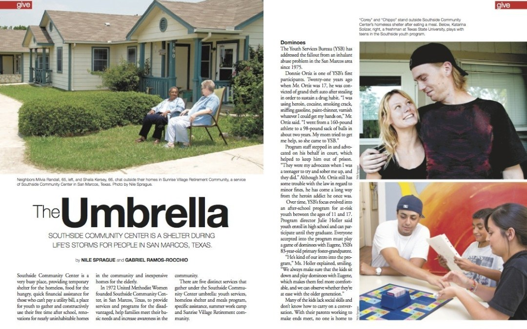 Magazine Article: The Umbrella, Southside Community Center, San Marcos, Texas