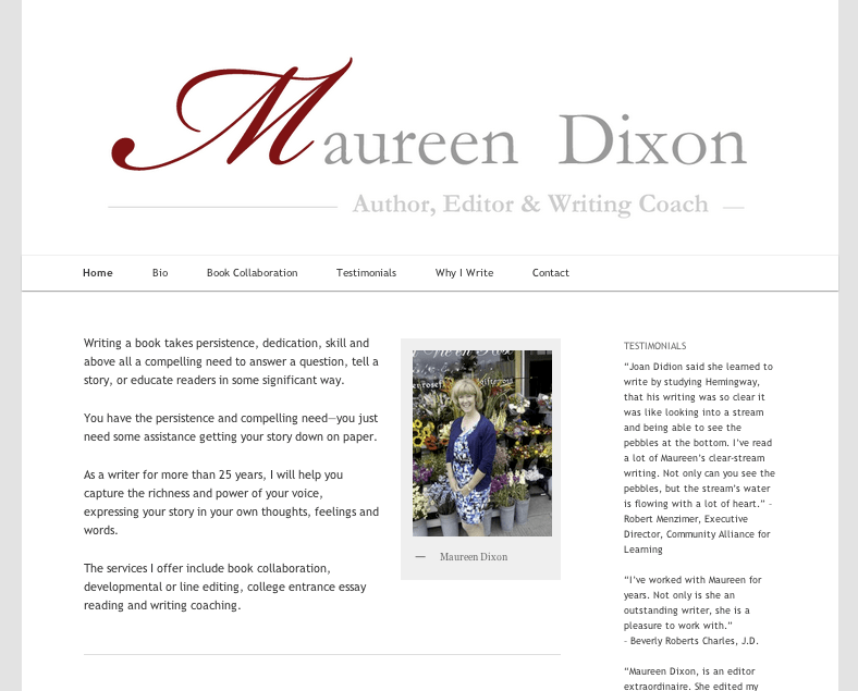 New Website: maureendixon.com