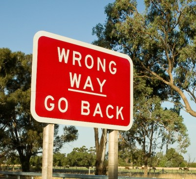 Wrong Way> Go back