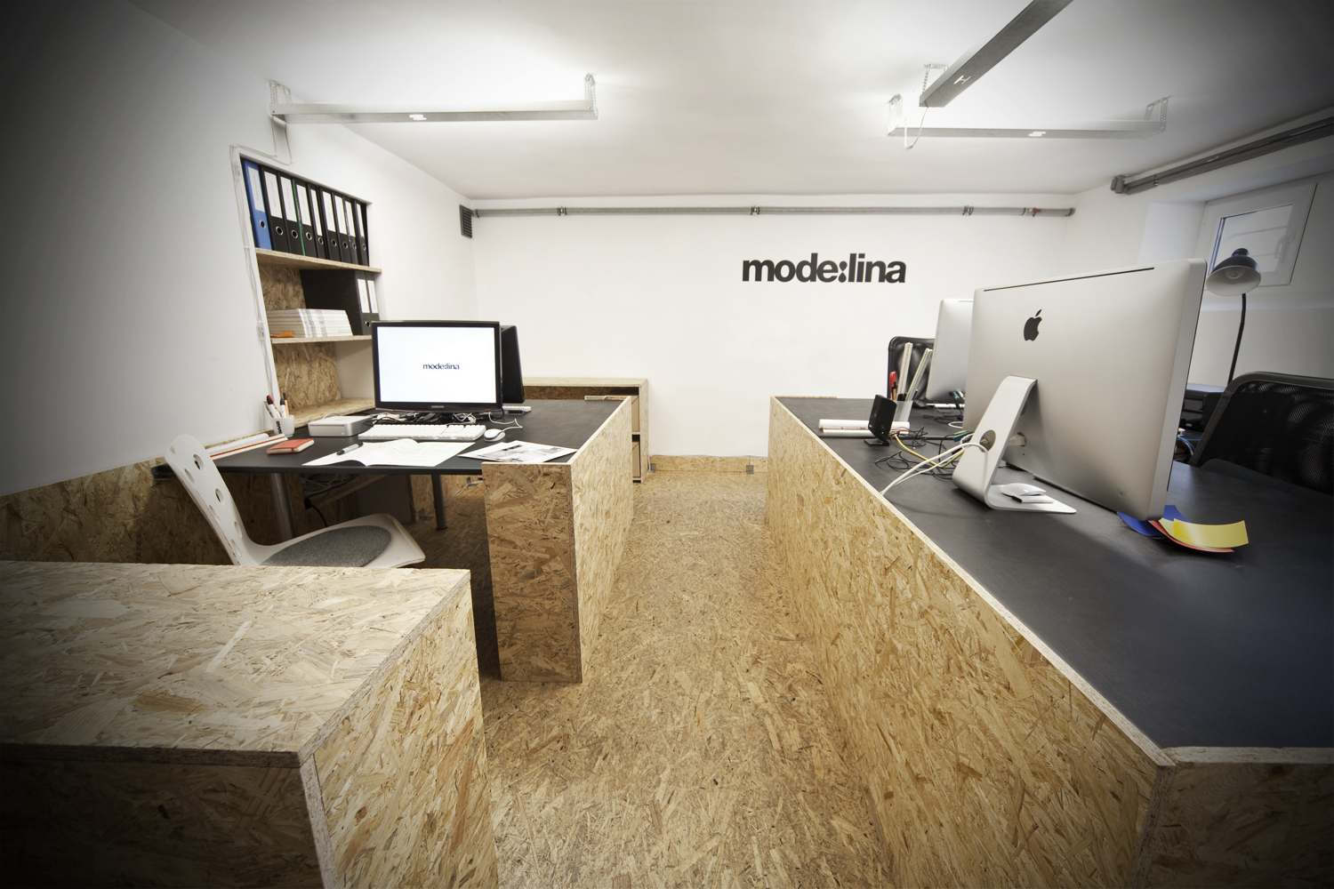 A Unique OSB Office Interior By Modelina