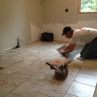 My Kitchen Re-Do! Porcelain Tile Floors