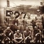Spach (upper left) with B-52 Flight Crew