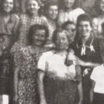 Two women (center) who hid Spach from Germans