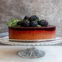 Chocolate, Blackberry and Thyme Ice Cream Cake (grain-free & vegan)
