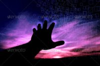 a hand with touch technology on photodune