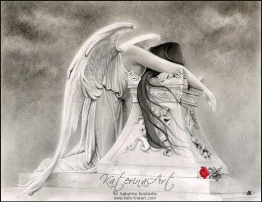 angel pencil sketch