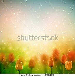 stock-vector-summer-rain-background-with-tulips-eps-195159338