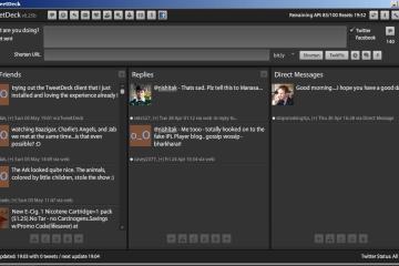 The TweetDeck Client Interface