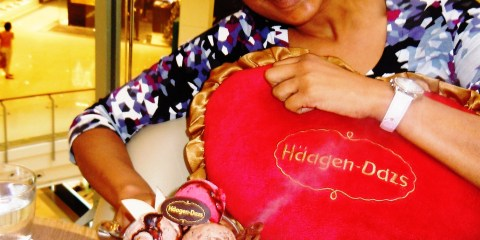Enjoying a Haagen-Dazs Sweet Treat at a Bangkok Mall...Yumm :)
