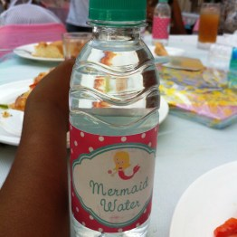 Even the bottled water followed the theme