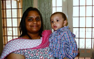 With his aunt