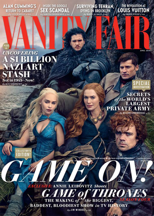 Vanity Fair Does A Game of Thrones Cover