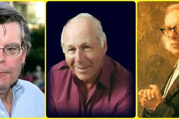 Stephen King, Ben Bova, and Isaac Asimov