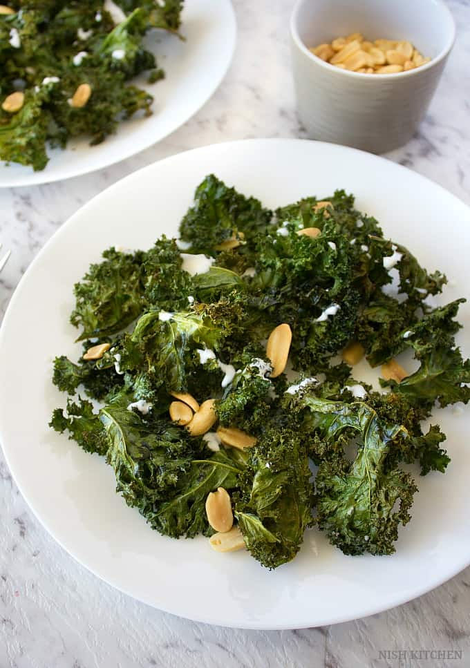 baked kale chips salad