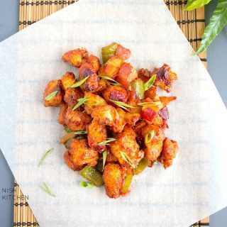 restaurant style chicken manchurian dry recipe