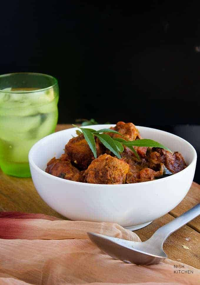 kerala chicken roast recipe with video