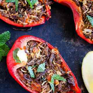 stuffed capsicum or bell peppers recipe with video