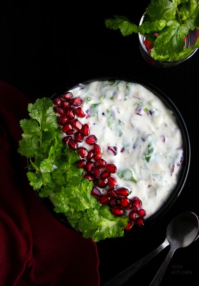 pomegranate raita recipe video