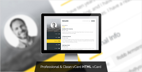 ThemeForest Premium Layers V10 HTML VCard Resume Template