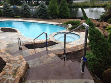 outdoor pool railing