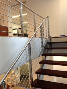 custom metal stair railing office