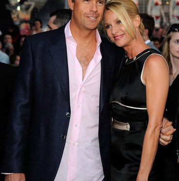 "LOS ANGELES, CA - APRIL 30: Steve Pate and Nicollette Sheridan, actress arrive at the Premiere Of Paramount's ""Star Trek"" on April 30, 2009 at Grauman's Chinese Theatre, Hollywood, California. (Photo by Frazer Harrison/Getty Images)"