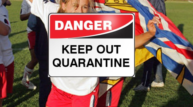 Player in quarantine with possible swine flu is a warning to children, pregant women and the disabled