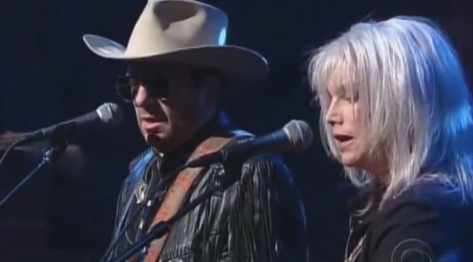Love Hurts with Elvis Costello and Emmylou Harris (Photo CBS/Letterman)