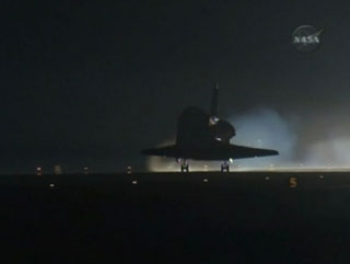 Endeavour STS 130 night landing
