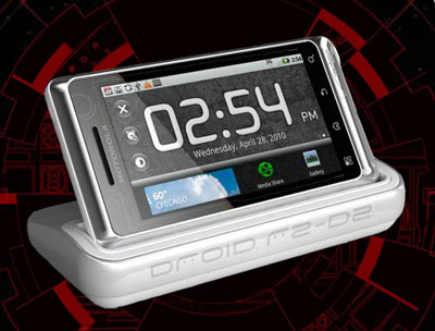 Verizon Droid R2D2 in docking station (image Verizon)