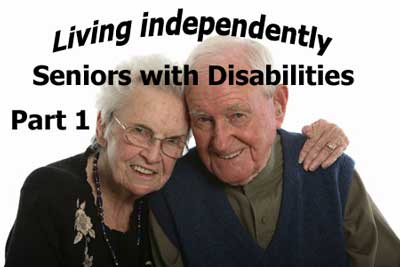 Many seniors with disabilities prefer to live at home and it costs less than institutional living