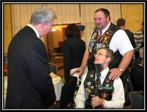 robert moi et JP Veterans minister backtracks on benefits 3 days after Remembrance Day photo