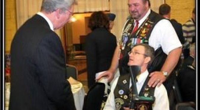 J. P. Blackburn Minister of Veterans Affairs meets with Veterans (pnoto UN Nato Veterans)
